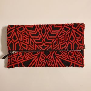 RVN Red Woven Clutch